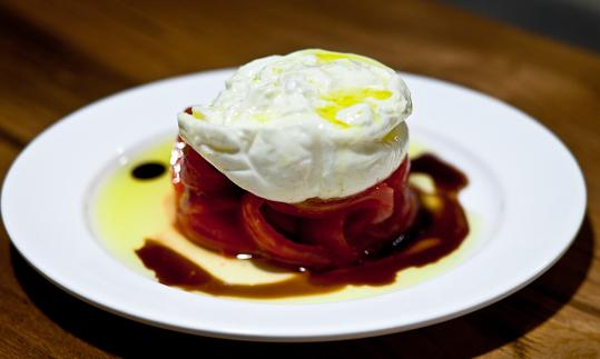 Tomato, burrata cheese and balsamic vinager
